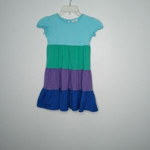 Hanna Andersson girls color block dress size 5/6
